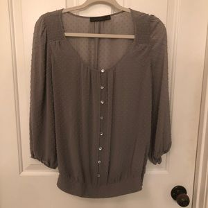 The Limited gray sheer top
